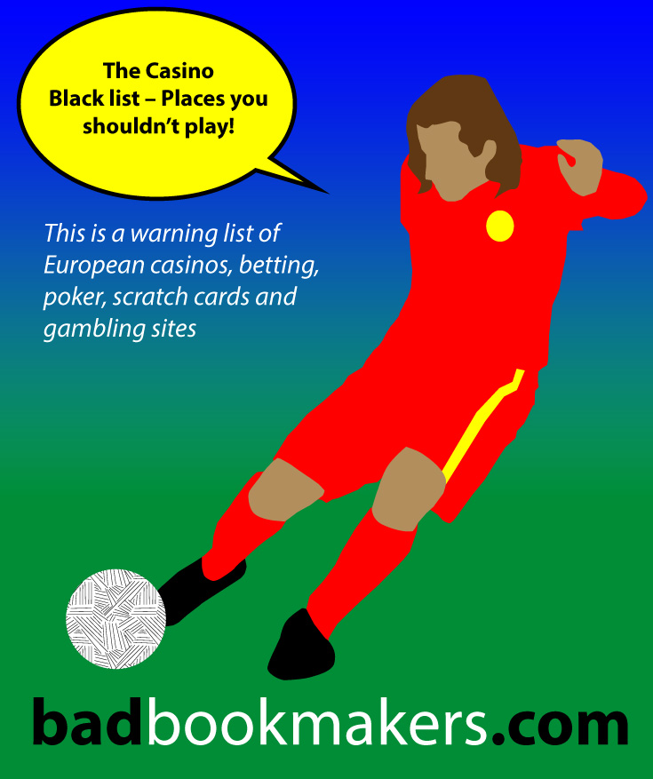 Before betting, read the casino and betting black list