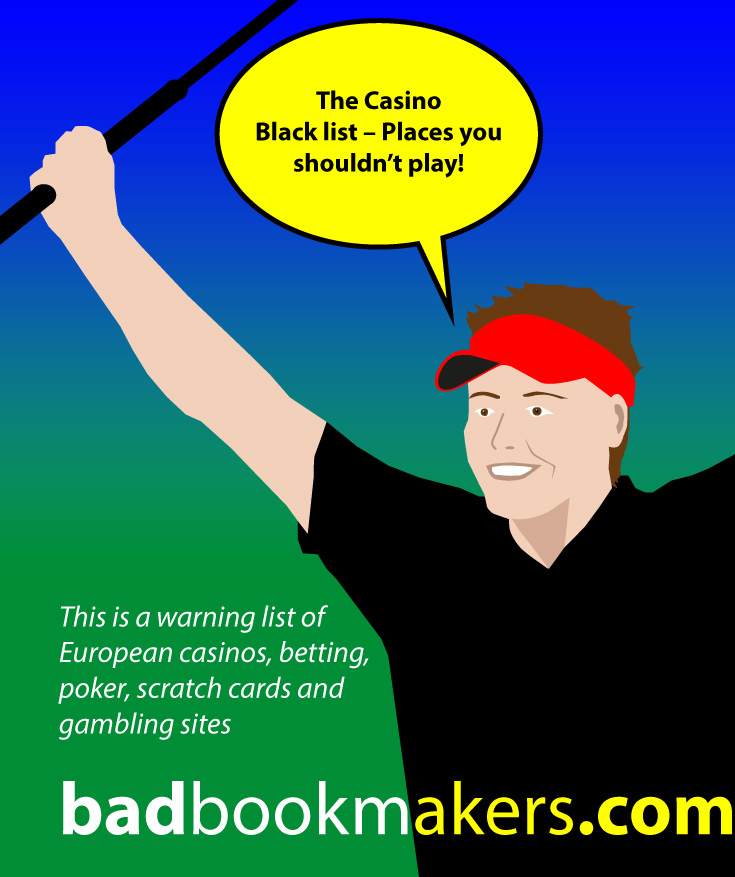 Gambling black list at badbookmakers.com